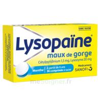 LysopaÏne Comprimés à Sucer Maux De Gorge Sans Sucre 2t/18 à LORMONT