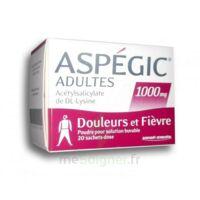 Aspegic Adultes 1000 Mg, Poudre Pour Solution Buvable En Sachet-dose 20 à LORMONT