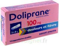 Doliprane 100 Mg Suppositoires Sécables 2plq/5 (10) à LORMONT