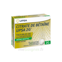 Citrate De Bétaïne Upsa 2 G Comprimés Effervescents Sans Sucre Menthe édulcoré à La Saccharine Sodique T/20 à LORMONT