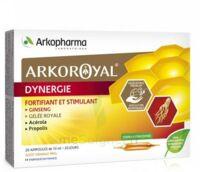 Arkoroyal Dynergie Ginseng Gelée Royale Propolis Solution Buvable 20 Ampoules/10ml à LORMONT