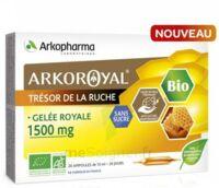 Arkoroyal Gelée Royale Bio Sans Sucre 1500mg Solution Buvable 20 Ampoules/10ml à LORMONT