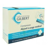 Alcool A Usage Medical Gilbert 2,5 Ml Compr Imprégnée 12sach à LORMONT