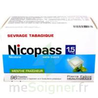 Nicopass 1,5 Mg Pastille Sans Sucre Menthe Fraîcheur Plq/96 à LORMONT