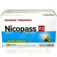 Nicopass 2,5 Mg Pastille Menthe Fraîcheur Sans Sucre Plq/96 à LORMONT
