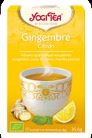 Yogi Tea Tisane Ayurvédique Gingembre Citron Bio 17 Sachets/1,8g à LORMONT