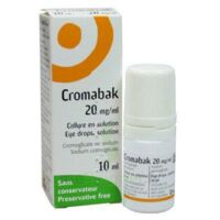 Cromabak 20 Mg/ml, Collyre En Solution à LORMONT