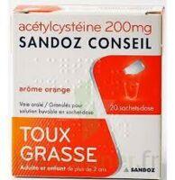 Acetylcysteine Sandoz Conseil 200 Mg Glé Solution Buvable En Sachet-dose 20sach/1g à LORMONT
