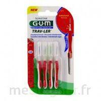 Gum Trav - Ler, 0,8 Mm, Manche Rouge , Blister 4 à LORMONT
