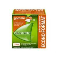 Nicorette 2 Mg Gomme à Mâcher Médicamenteuse Sans Sucre Fruits Plq/210 à LORMONT