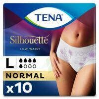 Tena Lady Silhouette Slip Absorbant Blanc Normal Large Paquet/10 à LORMONT